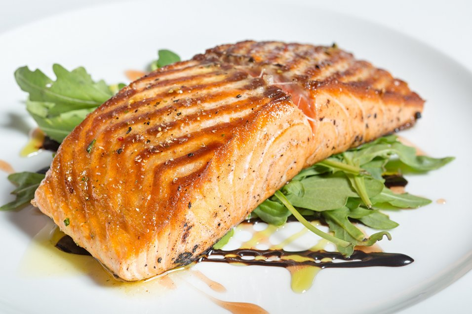 Brown Sugar Roasted Salmon with Maple-Mustard Sauce