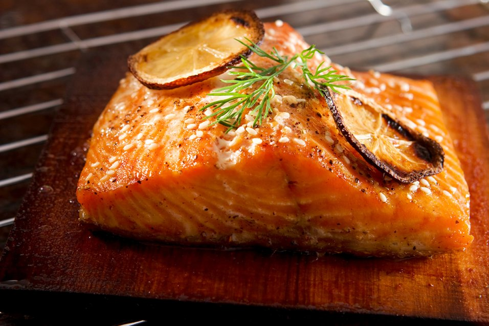 Cedar Plank Salmon with Lemon & Cayenne