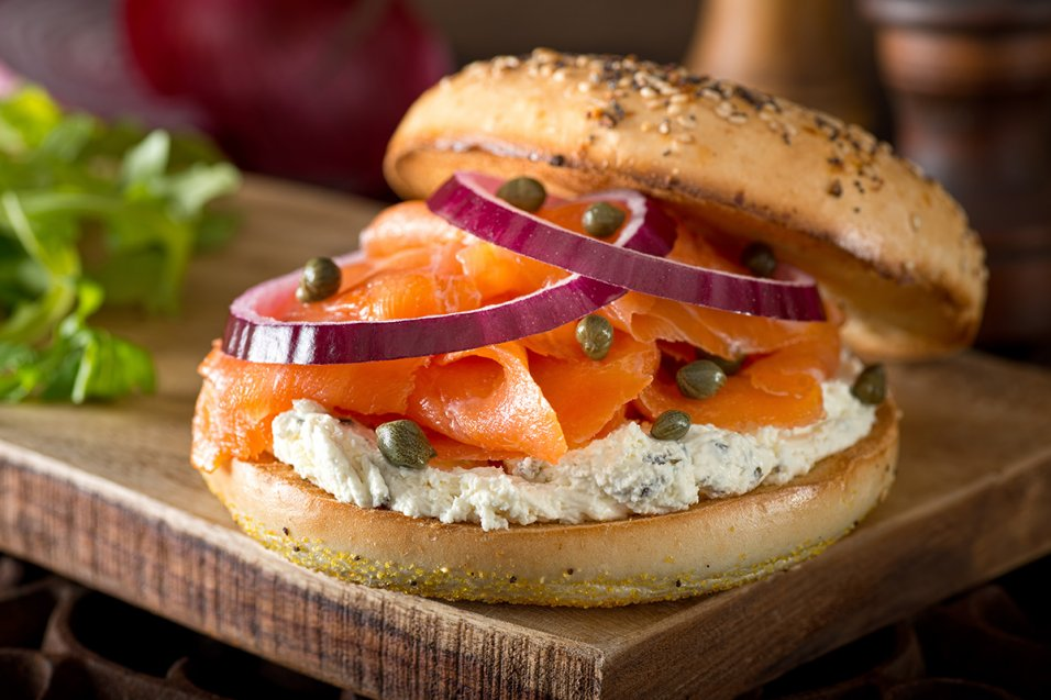 Smoked Salmon Sandwich with Herbed Cream Cheese and Ginger Relish