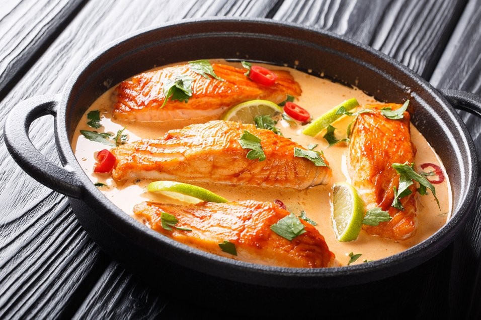 Spicy Coconut Curry Salmon